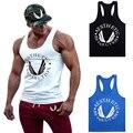 Homens Y VOLTAR Racer Pro Parte Superior Do Tanque Muscular dos homens Longarina Camisas Colete de Treino de Fitness Equipamento de Musculação Mangas Tops B-03
