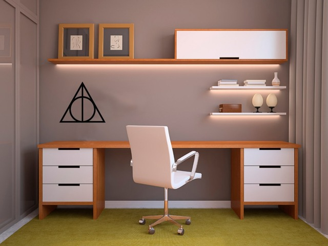 Harry Potter Deathly Hallows Nursery Wall Art Stickers In Wall