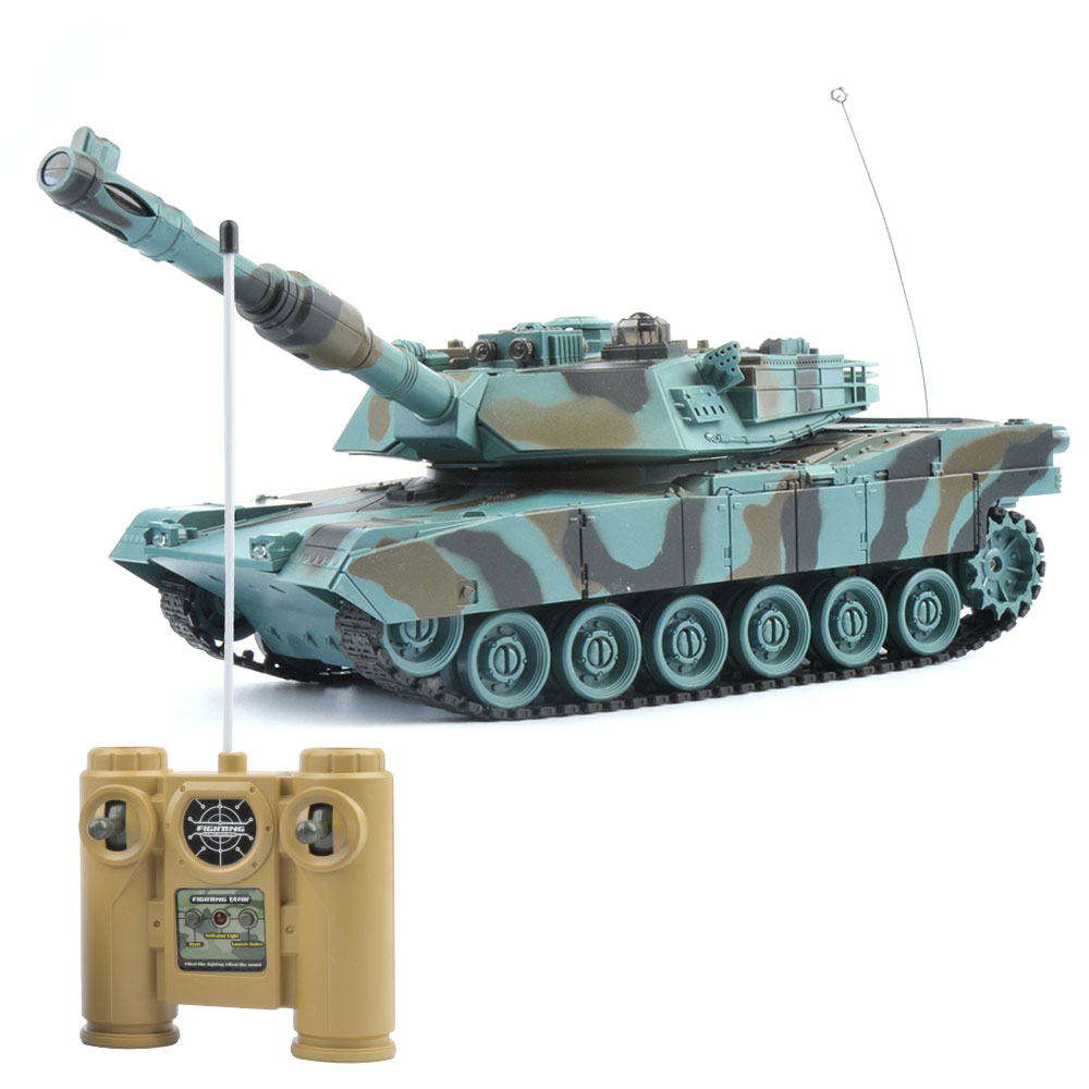 GizmoVine RC Tank RC Battle Tank 27Mhz Super Remote Control 1:18 Flashing Musical Tank 6Channers Best Gift for Children Kid Toys rc tank battle crawlertank car model remote control tank decor remote control tank remote toys for boys