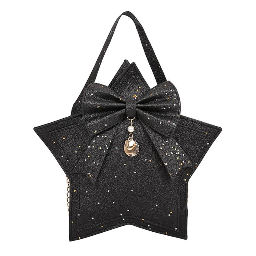 xiniu Fashion Women Sequins Bow Tie Leather Crossbody Hand Bag Shoulder Bag Leather women handbags 2018 luxury designer