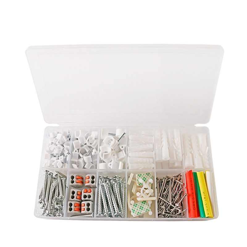 317pcs DIY Combination Kit Hard Wire Connecting Terminal Connector Terminals/ Pin Line Cards/ Expansion Pipe/ Mounting Twist Tie 200 pcs awg16 14 wire connector tube head uninsulated pin terminals silver tone
