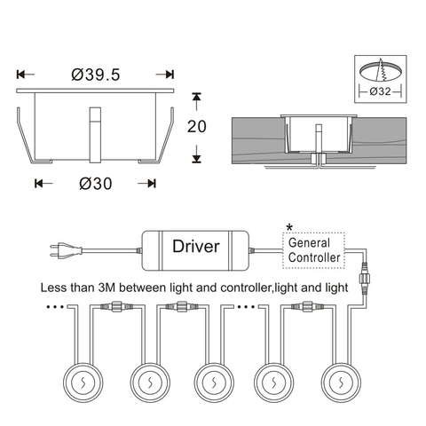 para areas externas casa 12v minilampada