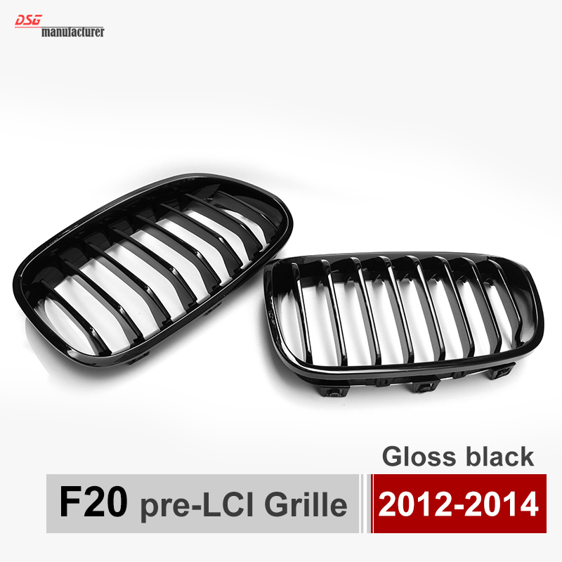 1 Series F20 kidney grill grille for BMW F20 F21 2012 - 2014 118i 120i 125i gloss black front dual line grille grill for bmw f20 f21 1 series 118i 2010 2011 2012 2013 2014