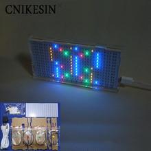 CNIKESIN AS1216 Crystal Castles LED Music spectrum display Level indicator light DIY electronic production Light cube kit