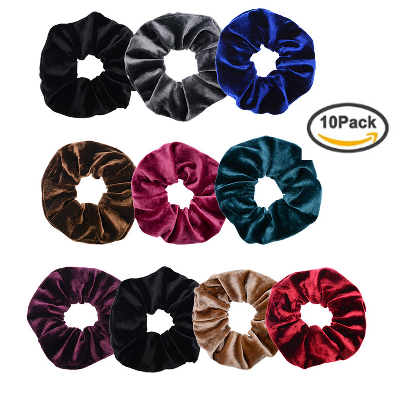Women's Accessories Hair Accessories Pack Of 2 Large Velvet Scrunchie 15cm