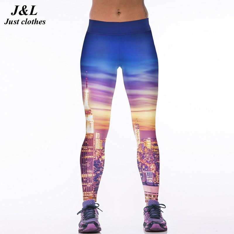 22 Warna Klasik Eropa Amerika Gaya 3D Print Wanita Olahraga Legging - Pakaian Wanita - Foto 6