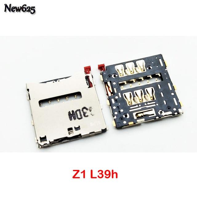 Nuevo Original para Sony Xperia Z L36 Z1 L39h Z2 L50W Z3 Z3 Compact Sim lector de tarjeta titular ranura para bandeja de hembra