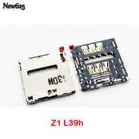 Oryginalny nowy dla Sony Xperia Z L36 Z1 L39h Z2 L50W Z3 Z3 kompaktowy czytnik kart Sim tacka gniazdo gniazdo