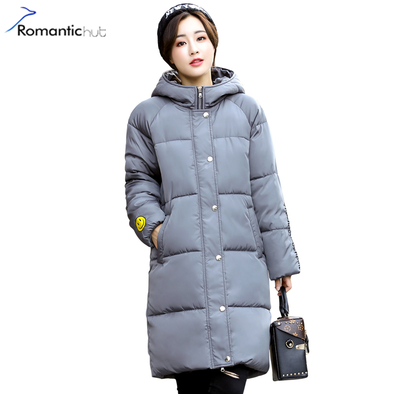 Romantichut Plus Size 3XL Winter Jacket Hooded Women Coats Embroidery 2017 Winter Coat Cotton Long Female Parkas casaco feminino romantichut 2017 new long parkas female hooded thick coat down cotton winter jacket fashion warm women outerwear plus size 3xl