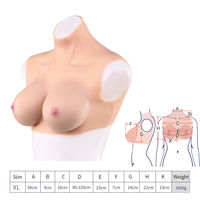 E Cup Halfbody Silicone Breast Forms Cloth E Cup TG CD Artificial Boobs Enhancer Lingerie 2000g Color Beige
