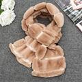 Fur Scarves Shawl For Women Faux Fur Rabbit Winter Women Thicken Plush Shawl Women Lady Scarf Wrap Stole