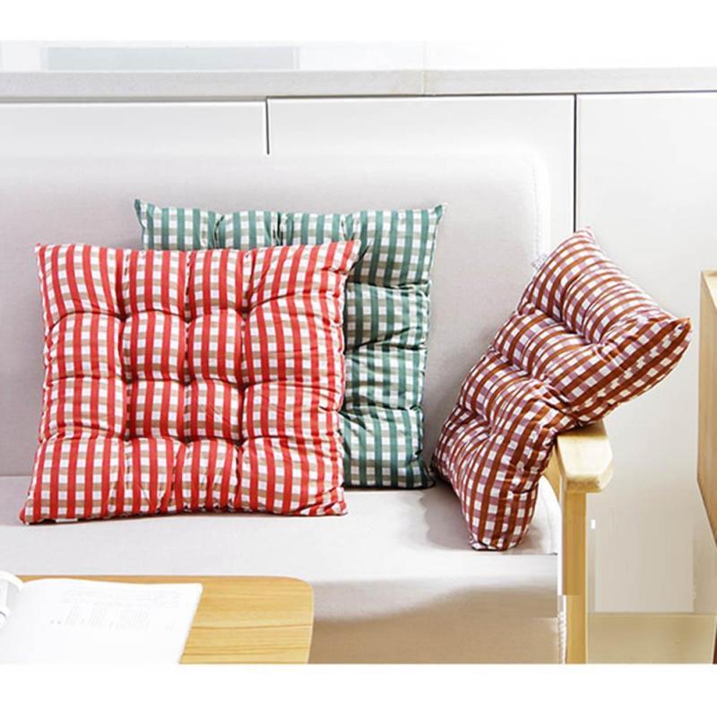 Algodón grueso silla cojines para silla de cocina rejilla cojín del ...