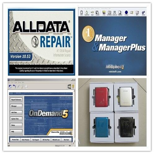 В10.53 програмное Митчелл по требованию + Митчелл менеджер плюс 3in1 с 750 Гб Жесткий диск авто ремонт программного обеспечения для автомобилей и грузовиков горячей