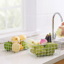 High Quality Home Storage Basket Wrought Iron Box Bathroom Kitchen Childrens Toys Sundries Food Fruit