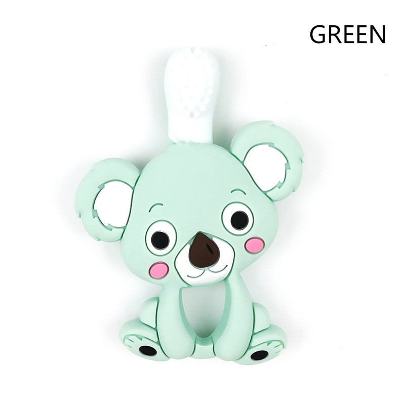 Image 5 - Baby Teether Koala Shape Stick Chews Silicone Infant Bebe Dental Care Toothbrush Toddler Training Teething RingTeethers   -