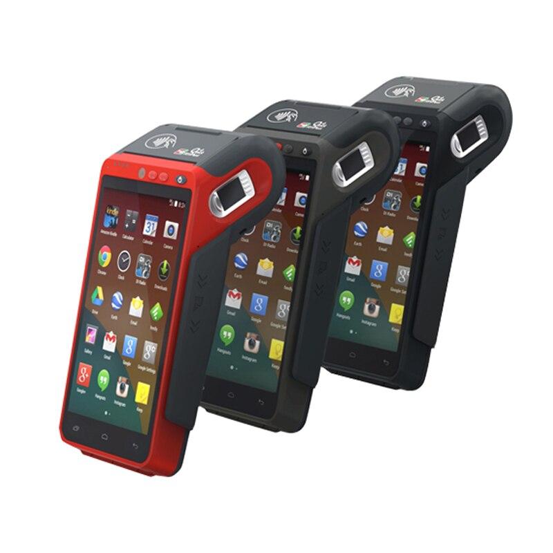 5.5 pouces 3G/4G/WIFI NFC écran tactile portable empreinte digitale Edc Terminal Android avec imprimante HCC-Z100 - 5
