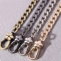 DIY 40cm 140cm Metal Replacement Chains Shoulder Bags Straps 9mm Gold Silver Gun Black Bronze Purse