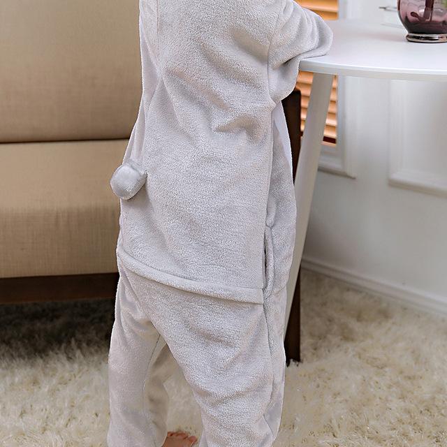 2018new Warm Long sleeve Pyjamas Kids Cartoon Koala Cosplay Animal Onesie Flannel Children Sleepwear Boys Girls Pajamas