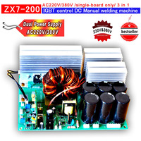 Dual power supply AC220V/380V of Circuit board of ZX7 200 IGBT PCB Single board for inverter welder 3 in 1 welding machine