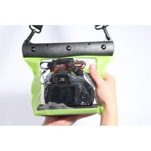 Image 5 - 20m 65ft מצלמה עמיד למים יבש תיק מתחת למים צלילה שיכון מקרה פאוץ שחייה תיק עבור Canon Nikon Sony Pentax DSLR GQ 518L