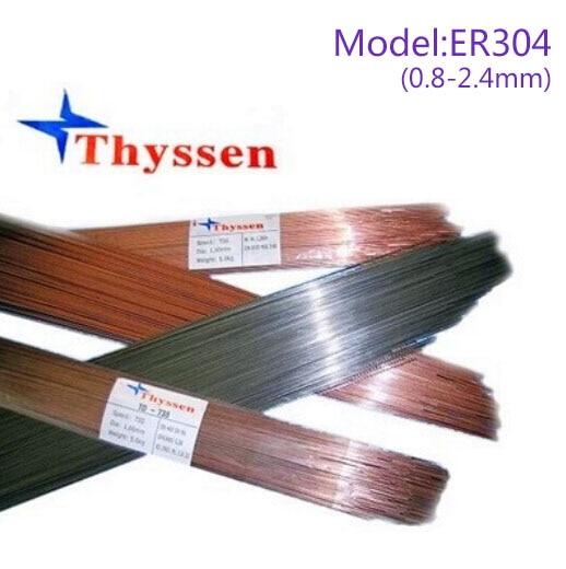 1KG/Pack Thyssen Mould welding wire Argon arc welding wire ER304 for Welders (0.8/1.0/1.2/1.6/2.0/2.4mm) T012026 1kg pack gm mould welding wire trader 2344 pairmold welding wire for welders 0 8 1 0 1 2 2 0mm s012001