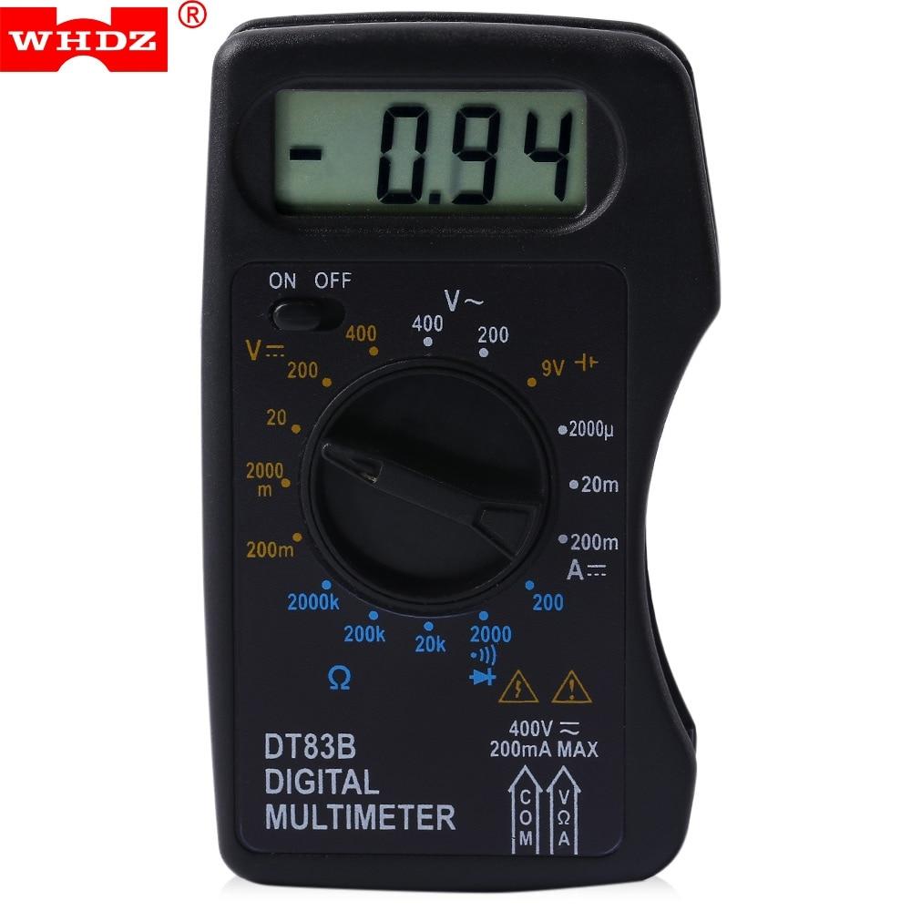Digital Voltmeter Walmart : Whdz dt b digital multimeter ac dc tester voltmeter