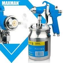 цена на MAXMAN600/750/1000ML Professional Pneumatic Spray Gun Airbrush Sprayer Alloy Painting Atomizer Tool With Hopper For Painting Car
