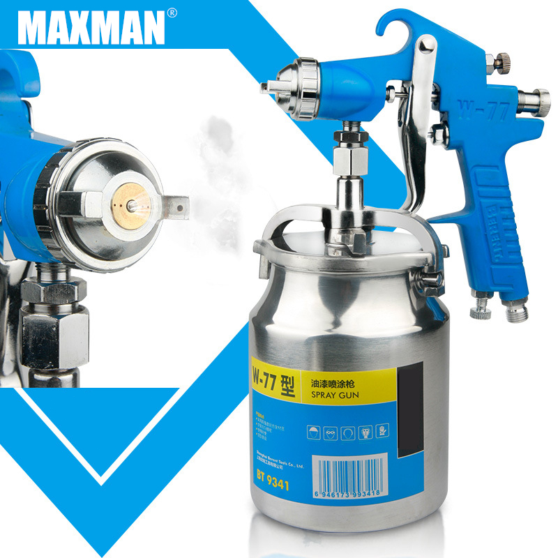 MAXMAN600/750/1000ML Professional Pneumatic Spray Gun Airbrush Sprayer Alloy Painting Atomizer Tool With Hopper For Painting Car