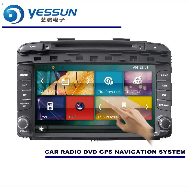 For Kia Sorento 2015 2016 Car Radio CD DVD Player Amplifier HD TV Screen GPS Navigation Audio Video System
