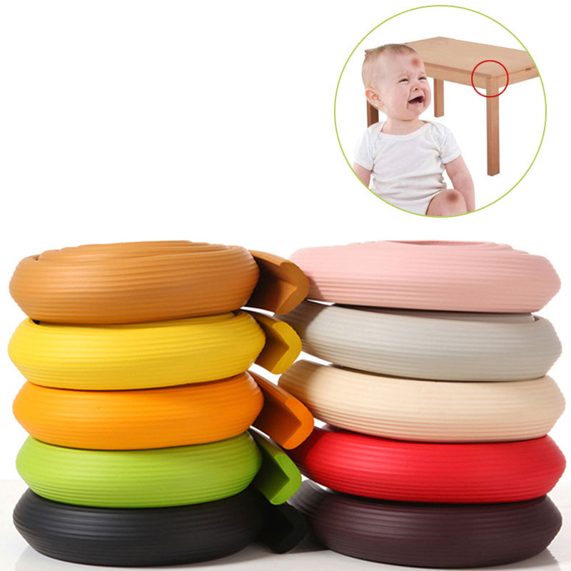 Child Protection 2M Length Stripe Anti-collision Strip Baby Child  Safety Edge Furniture Corner Security Child Lock