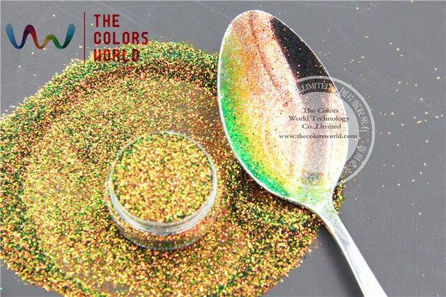TCR404 Радужный Красного Золота С Зеленый цвет блеск Шестигранной формы 0.4 ММ Размер блеск для ногтей и DIY украшения
