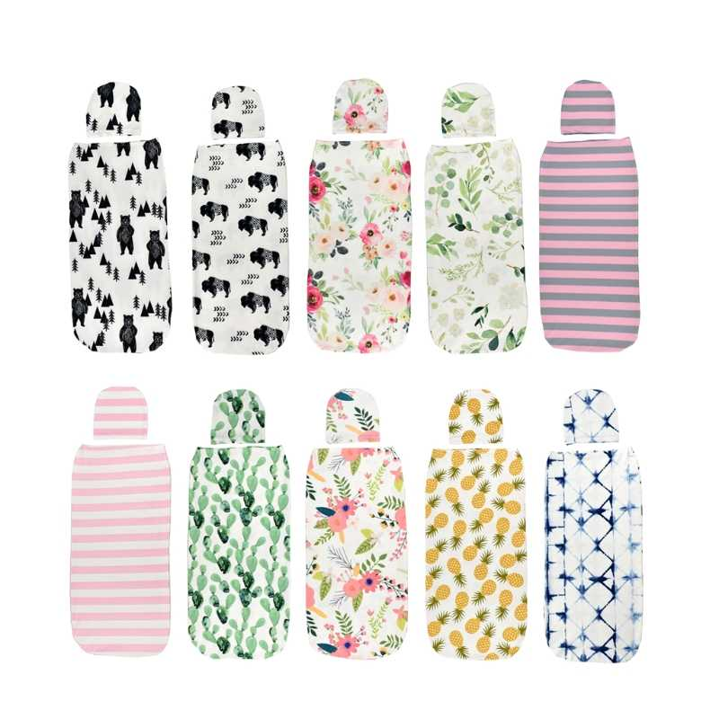 Baby Swaddle Blanket Cap Newborn Cocoon Wrap Cotton Swaddling Bag Baby Envelope Sleep Sack Bedding