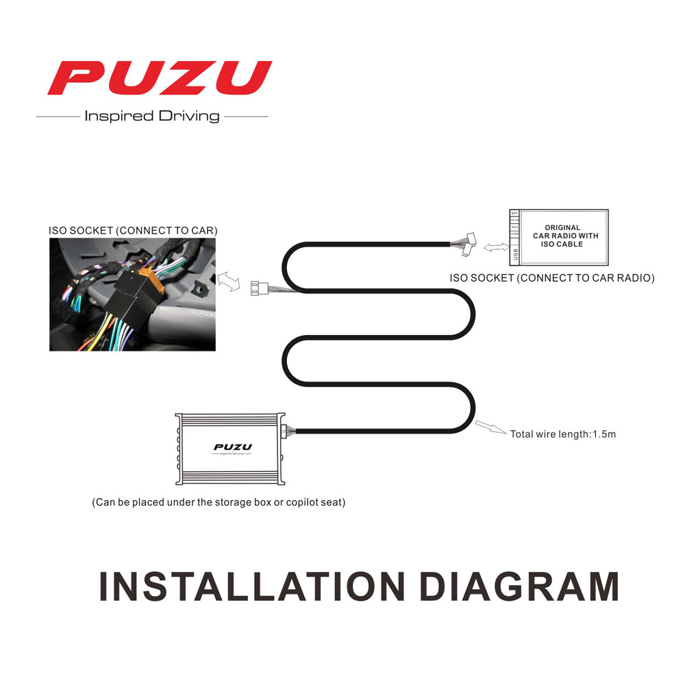 Puzu P12 Car Audio Signal Processor Amplifier 4x100w Support 12 Band Wiring Diagram Tuning Android App Dsp Iso Cable Non Destructive In Multichannel Amplifiers