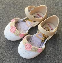 Little kids girls sandals candy jelly shoes rose flower Princess shoes soft PVC Cartoon waterproof baby beach sandals