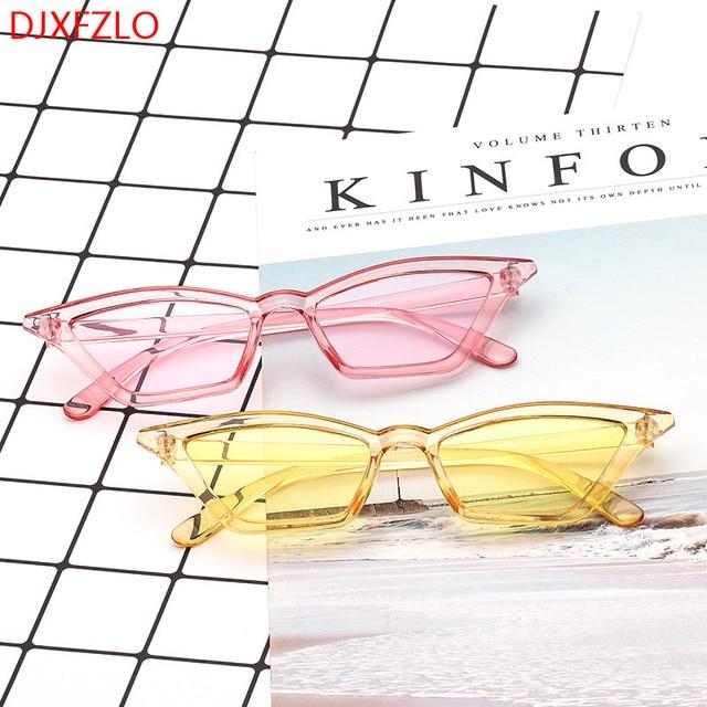 34724800649 DJXFZLO 2018 new sunglasses women brand design retro colorful transparent colorful  fashion cat eye sun glasses men UV400