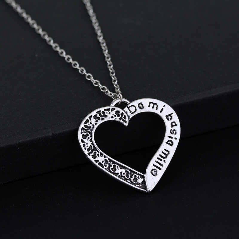 Dongsheng outlander dami basia mille hart ketting voor Vrouwen Mannen Ketting Gift-30