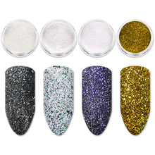 Mtssii Holographic Nail Sugar Powder Holo Sandy Glitter Chameleon Pigment Dust Color Manicure Art Decoration 1 PC