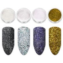 Mtssii Holographic Nail Sugar Powder Holo Sandy Glitter Chameleon Pigment Dust Color Manicure Art Decoration 1 PC