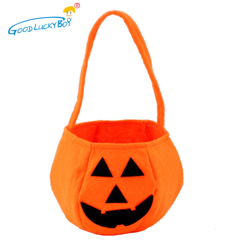 halloween funny toys sweet candy pumpkin portable bag trick treat party decoration props game gifts for kids children