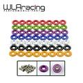 Wlring tienda-(8 unds/pack) claro anodizado fender lavadora kit para honda civic acura integra eg dc ek wlr-fw31