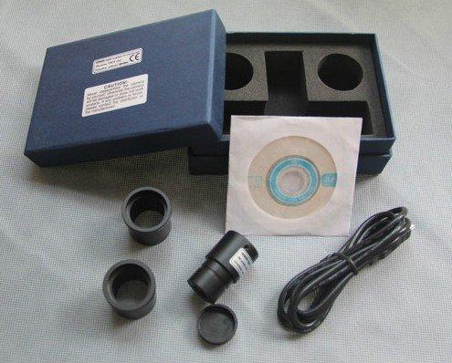 ②1.3 mega piksel usb canlı video mikroskop dijital kamera Ücretsiz