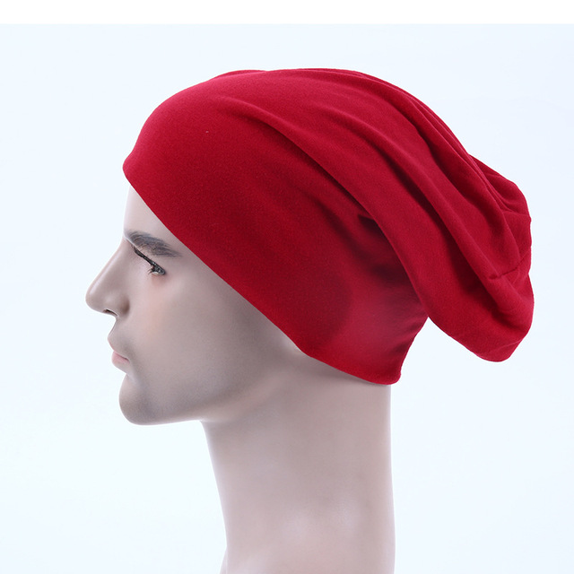 Wholesale 10pcsCB Blank Men Slouch Beanies Caps Mens Spring Plain Skullcap  Womens Polyester Skullies Beanie Hat Oversized Hats 36e2d62369e