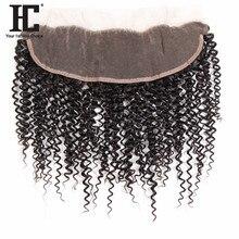 HC для волос Реми уха до уха вьющиеся De Cheveux humains Dentelle Frontale Fermeture с ребенком волос 13×4 дюймов натуральный Цвет могут быть окрашены