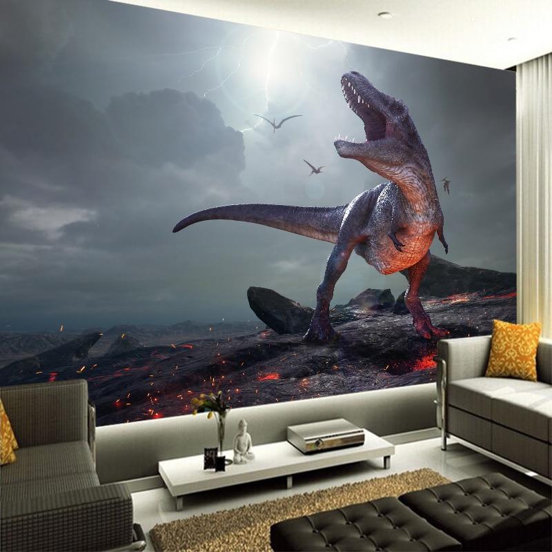 3D Neue Custom Leinwand Wandmalerei Lebendige Dinosaurier Wand ...