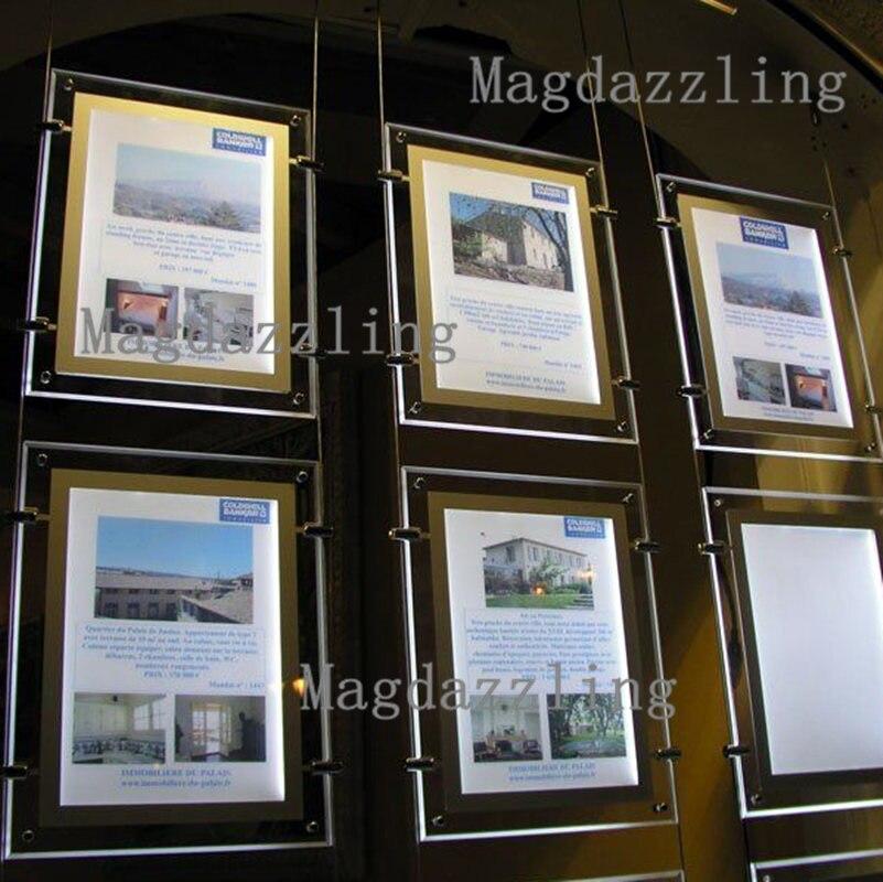 A4 Einseitig Porträt Hängen LED Fenster Display Immobilien mittel ...