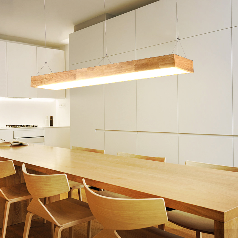 A1 Japanese Chandelier Solid Wood Lamp Office Led Living Room Light Dining Table Nordic