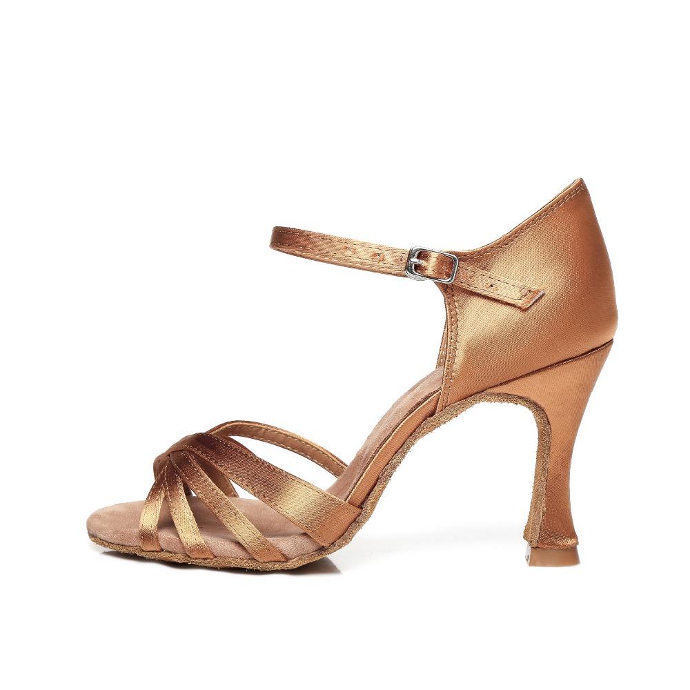 Sneakers Woman Dance Shoes Salsa Latin Dancing Shoes Jazz Women Ballroom Shoes Satin Latin Dance Shoes White Black JuseDanc