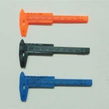50PCS Plastic Vernier Caliper Gauge Sliding Ruler Micrometer Student Experiment Tool Pearl Jewelry antique Calipers 0-80mm