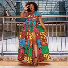 african dresses for women ankara cotton print dress fashion wedding high quality