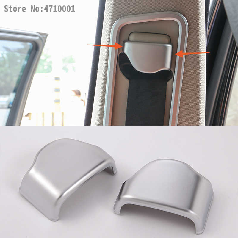 ABS Chrome Front Seat Safety Belt Buckle Cover Trim Stickers For Land Rover Discovery 4 LR4 2010-2016 Car-styling Accessories